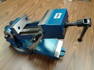 6 Sine Vise Angle Vise Heavy Duty W Swivel Base 6 1 2 Opening 850 qzx160 new