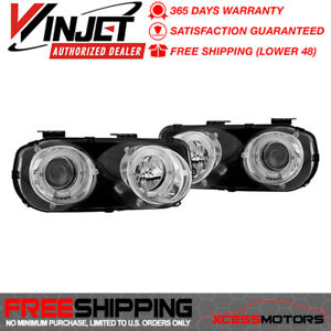 Fits Winjet 94 97 Acura Integra Projector Head Light Lamp Chrome clear