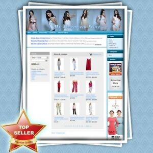 Sleepwear Store Premium Affiliate Website For Sale Work At Home Free Domain