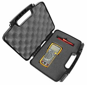 Rugged Digital Multimeter Carrying Travel Hard Case Dense Foam Fits Fluke 115