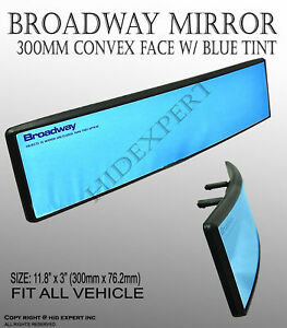 Broadway 300mm Wide Convex Interior Blue Tint Rear View Universal Mirror A327