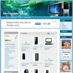 Computer Store Professionally Designed Affiliate Website Free Domain hosting