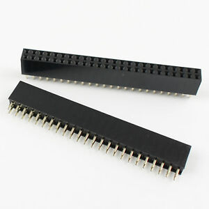 100pcs 2 54mm Pitch 2x24 Pin 48 Pin Female Double Row Straight Pin Header Strip