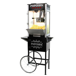 Paramount 16oz Commercial Popcorn Maker Machine Cart 16 Oz Popper black