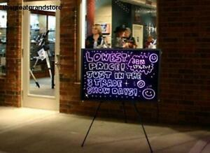 32 x24 Large Flashing Illuminated Erasable Neon Led Writing Board Menu Sign Set