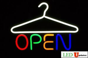Laundromat Dry Cleaner Led Open Sign On off Switch Ul Power Supply Ledupdates