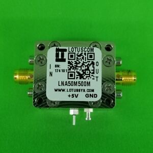 Low Noise Amplifier 1 0db Nf 50mhz To 500mhz 23db Gain 20dbm P1db Sma