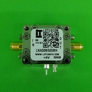 Low Noise Amplifier 0 9db Nf 50mhz To 500mhz 27db Gain 22dbm P1db Sma