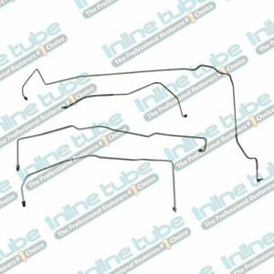 2000 05 Cadillac Deville Preformed Brake Line Kit W Abs Front 4pc Tubes Oe