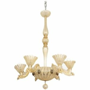 Barovier Toso Chandelier Made In Italy 1935