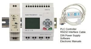 Plc Training Starter Kit Programmable Controller Programming Software Rs232 Ul