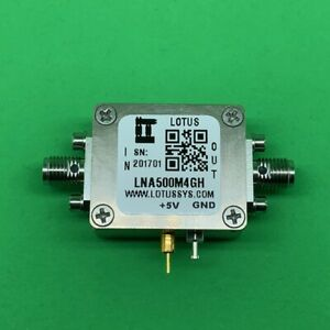 Broadband Low Noise Amplifier 1 3db Nf 500mhz To 4ghz 21 8db Gain 22dbm P1db Sma