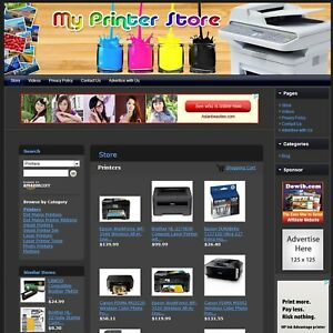 Printer Store Premium Affiliate Website Business For Sale Free Domain hosting