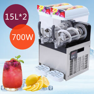 2 X 15l 700w Slushy Slush Making Machine 30l Frozen Drink Machine 30l 2 Tank