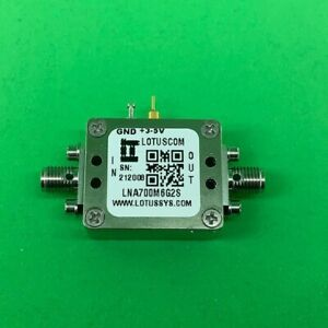 Broadband Low Noise Amplifier 0 4db Nf 0 7 6ghz 40db Gain 20dbm P1db 2 Stage