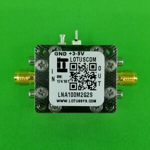 Broadband Low Noise Amplifier 0 45db Nf 100m 2ghz 40db Gain 2 Stage