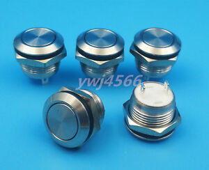 50pcs 12mm Waterproof Stainless Steel2pin 1no Momentary Mini Push Button Switch