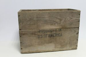 Antique Primitive Old Hand Woven Wooden Wicker Bag Box Chest Case
