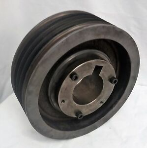 10 Inch 5 groove Vbelt Motor Pulley 2 7 8 2 875 Id Browing Taper lock Bushing