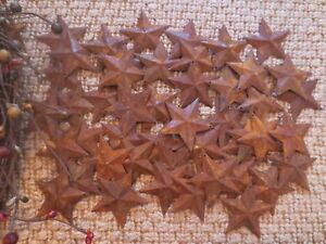 Huge Lot 300 Rusty Barn Stars 1 5 Inch Primitive Rustic Country Rusted Tin Metal