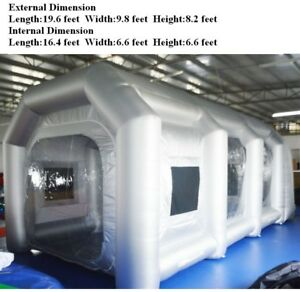 Us Giant Oxford Inflatable Automative Spray Painting Booth With 2 110v Blower