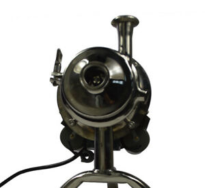 110v Food Grade Centrifugal Pump Sanitary Beverage Pump 3t h 304 Stainless Steel