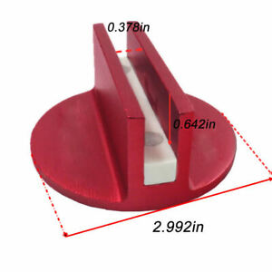 Single Red Large Universal Magnetic Floor Jack Pad Adapter Pinch Frame Rail