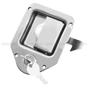 Stainless Steel Truck Toolbox Lock Latch Paddle Handle Rv Trailer 4 3 8 3 1 4