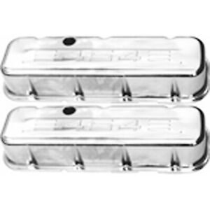 Racing Power Rpc R9843 Engine Valve Covers Chrome 1965 95 Bb Chevy 396 502 Tal