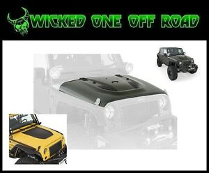 Jeep Jk Wrangler Stingray Vented Hood Oe Hood Latch Hood Mount Fitment