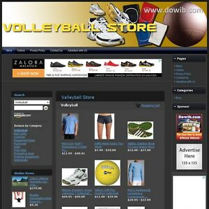 Volleyball Store Complete Premium Website For Sale Amazon adsense dropship