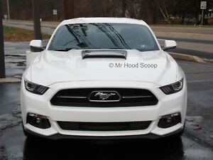 2015 2016 2017 Hood Scoop For Ford Mustang Boss Gt Style Unpainted Hs005