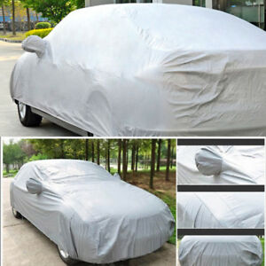 Universal Outdoor Uv Waterproof Full Car Auto Cover Silver Size M L Xl X