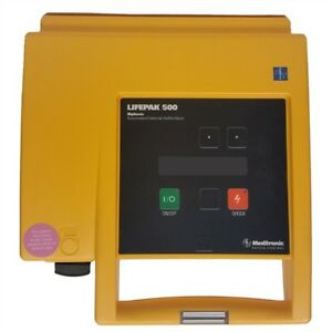 Lifepak 500 Biphasic With New Battery And New Adult Pads Biomed Tested