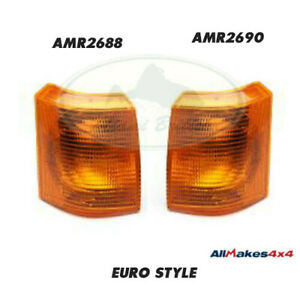 Land Rover Front Turn Signal Light Lamp Set X2 Range 95 99 Allmakes4x4