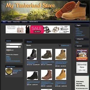 Timberland Shoes Store Professional Design Affiliate Website Business For Sale