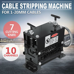 Manual Electric Wire Stripping Machine 1 5 38mm Scrap 10 Channels Peeling