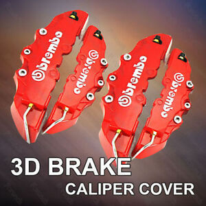 4pcs Red Brembo Style Car Universal Disc Brake Caliper Covers Front