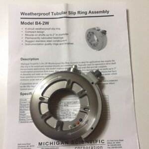 Michigan Scientific B4 2w Slip Ring Assembly Manufacture Refurbished