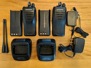 A Pair Of Kenwood Tk 2300v16p Protalk Vhf Business Two way Radios