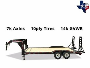 New Texas Pride 8 X 20 18 2 Gooseneck Lowboy Equipment Trailer 14k Gvwr