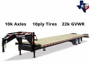 Brand New Texas Pride 8 X 25 20 5 Equipment Trailer 22k Gvwr