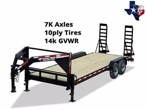 New Texas Pride Gooseneck 7 x20 Lowboy Equipment Trailer 14k Gvwr