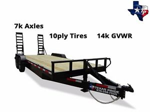 New Texas Pride 7 x20 18 2 Lowboy Equipment Trailer 14k Gvwr