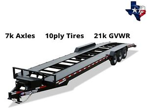 Brand New Texas Pride Bumper Pull 7 X 36 Double Car Hauler Trailer 21k Gvwr