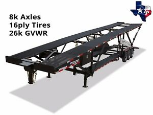 Brand New Texas Pride 44 Five Car Hauler Trailer 26k Gvwr
