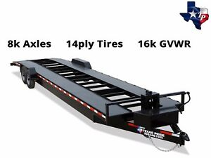 Brand New Texas Pride 7 X 36 Double Car Hauler Trailer 16k Gvwr