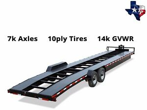 Brand New Texas Pride 7 X 36 Double Car Hauler Trailer 14k Gvwr
