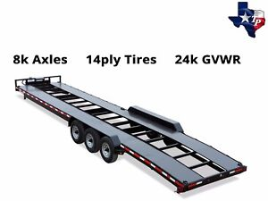 Brand New Texas Pride Bumper Pull 7 X 36 Double Car Hauler Trailer 24k Gvwr