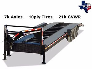 Brand New Texas Pride Gooseneck 7 X 36 Double Car Hauler Trailer 21k Gvwr